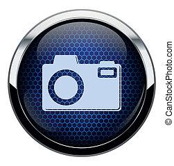 błękitny, fotografia, plaster miodu, ikona