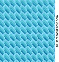 błękitny, geometryczny, seamless, tło, fale