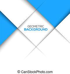 błękitny, geometryczny, tło, 3d