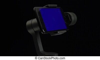 błękitny, gimbal, ekran, stabilizator, steadicam,...