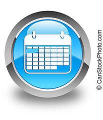 błękitny, guzik, połyskujący, cyan, kalendarz, okrągły,...