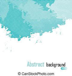 błękitny, illustration., abstrakcyjny, text., malować, wektor, miejsce, plamy, tło, twój