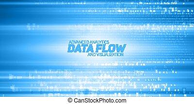 błękitny, informacja, kodeks, representation., cryptographic, potok, strings., cielna, abstrakcyjny, visualization., blockchain, potok, wektor, data., takty muzyczne, kodowany, transfer., bitcoin, dane, analysis.