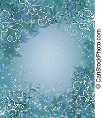 błękitny, iskierka, boże narodzenie, tło, zima