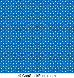 błękitny, jasny, polka, seamless, kropkuje