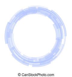 błękitny, koła, abstrakcyjny, tło., wektor, technologia