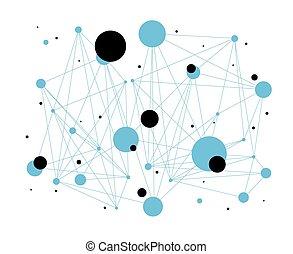 błękitny, komunikacje, abstrakcyjny, tło