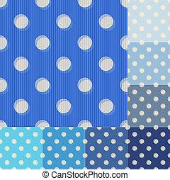 błękitny, kropkuje, polka, seamless, próbka