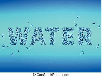 błękitny, krople, od, woda, tło