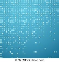 błękitny, kwadraty, pattern., technologia