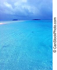 błękitny, laguna