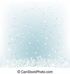 błękitny lekki, śnieg, oczko, tło, miękki