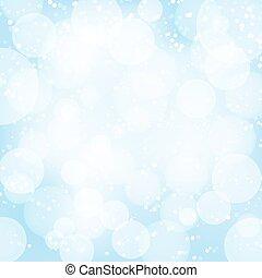 błękitny lekki, abstrakcyjny, effects., wektor, tło