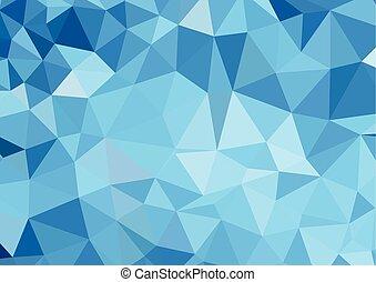 błękitny lekki, abstrakcyjny, polygonal, wektor, tło
