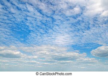 błękitny lekki, chmury, niebo