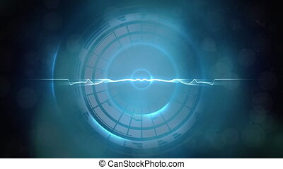 błękitny lekki, ciągnąć, koło, na, tło, przeciw