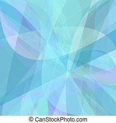 błękitny lekki, dynamiczny, tło, krzywe