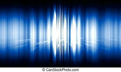 błękitny lekki, hałas, promienie, oślepiający