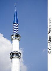 błękitny meczet, minaret
