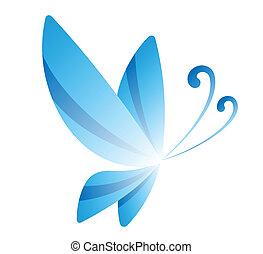 błękitny, motyl