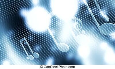 błękitny, muzyka, pętla