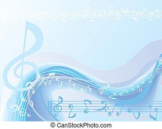 błękitny, muzyka, tło
