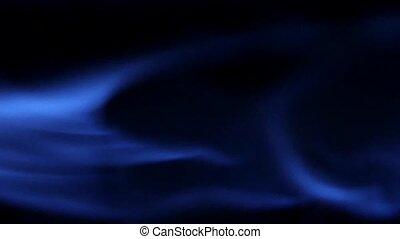 błękitny, naturalny gaz, flames., powolny, motion., clost,...