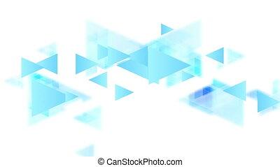 błękitny, ożywienie, tech, triangle, video, minimalny