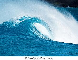 błękitny ocean, machać