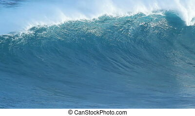błękitny, olbrzym, falistość oceanu