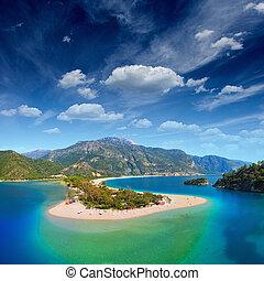 błękitny, oludeniz, laguna