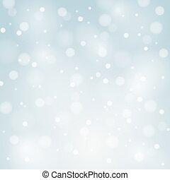 błękitny, płatki śniegu, wektor, tło, białe boże narodzenie