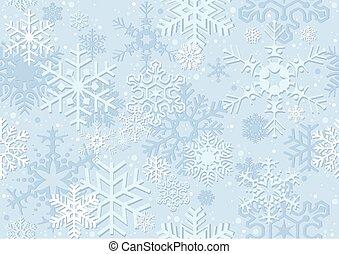 błękitny, papier, boże narodzenie, płatek śniegu