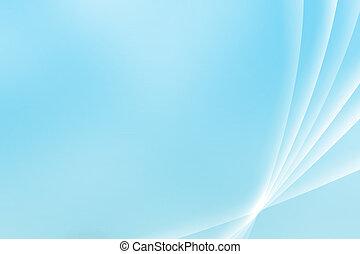 błękitny, perspektywa, krzywe, uspokajający