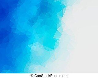 błękitny polewają, abstrakcyjny, polygonal, wektor, tło