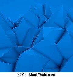 błękitny, polygonal, abstrakcyjny, tło
