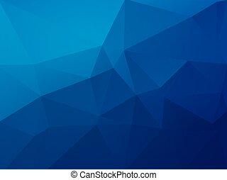 błękitny, polygonal, abstrakcyjny, wektor, tło