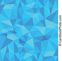 błękitny, polygonal, tło