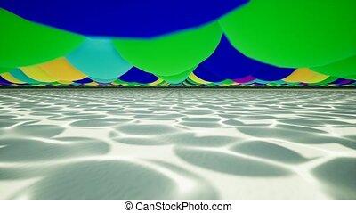 błękitny, powolny, lekki, motion., woda, czysty, reflections., kałuża