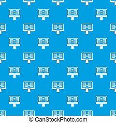 błękitny, próbka, app, seamless, translator, ekran komputerowy