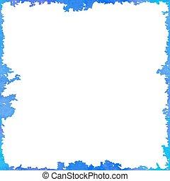 błękitny, próbka, fale, seamless, ciemny, doodle
