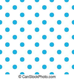 błękitny, próbka, polka, seamless, projektować, kropka