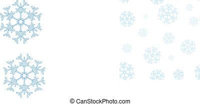 błękitny, próbka, zima, płatki śniegu, seamless