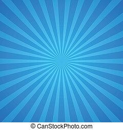 błękitny, promienie, tło