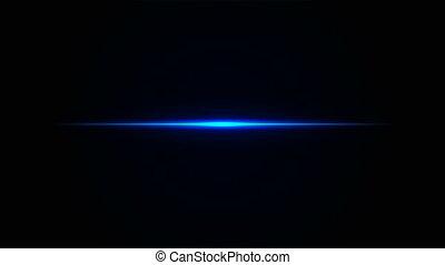 błękitny, prosty, neon, kreska