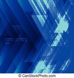 błękitny, przestrzeń, concept., cielna, abstrakcyjny, strzały, diagonalne pasy, tech, tło, cyfrowy, text., geometryczny, znak, technologia, twój