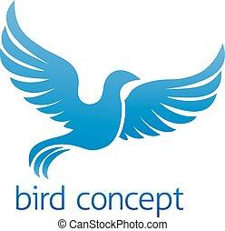 błękitny ptaszek, albo, gołębica, projektować