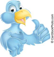 błękitny ptaszek, litera