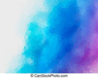 błękitny, purpurowy, abstrakcyjny, polygonal, wektor, tło