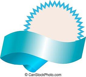 błękitny, realistyczny, chorągiew, opróżniać, szablon